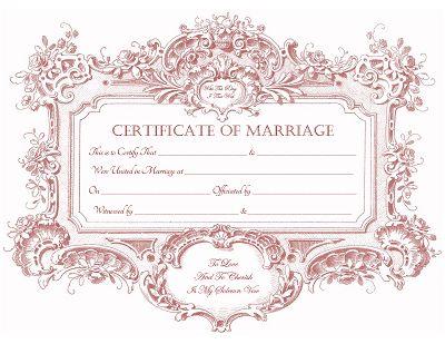 Free keepsake marriage certificate printable digital art pinterest baroque posts and vintage for Freemarriage records