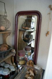 Smalle brocante Franse spiegel