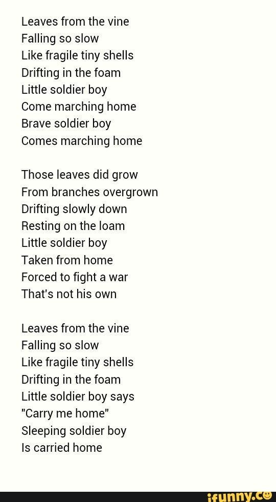 Brave Little Soldier Boy : brave, little, soldier, Leaves, Falling, Fragile, Shells, Drifting, Little, Soldier, Marching, Brave, Comes, Avatar, Airbender,