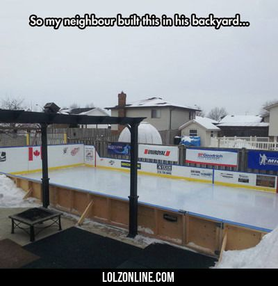 So My Neighbor Built This In His Backyard... #lol #haha #funny