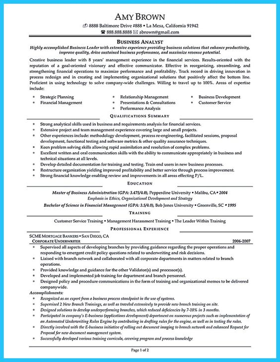 Do you think getting the business analyst job is easy? Getting - business system analyst resume