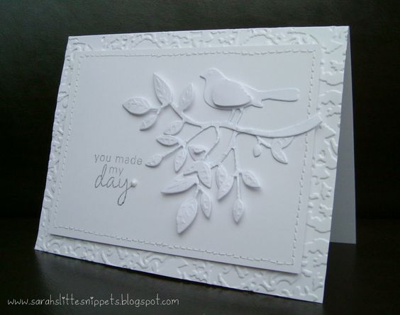 White on white card