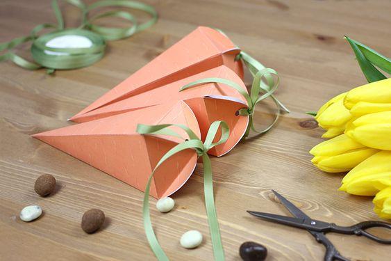Marchewkowe pudełka będą idealne na zbliżające się święta Wielkanocne, ale również na inne imprezy. Papierowa marchewka może być...