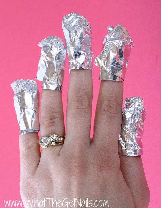 How to Take Off Gel Polish at Home. Soak for 15 minutes.