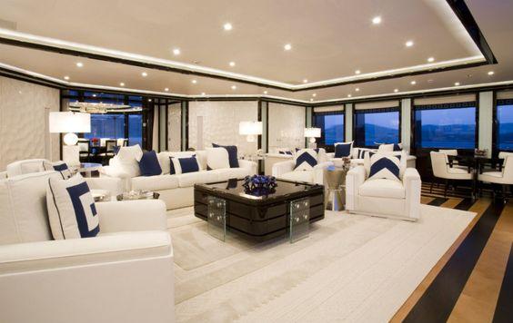 Das Leben auf einer Luxusyacht  lesen Sie mehr: http://wohn-designtrend.de/das-leben-auf-einer-luxusyacht/