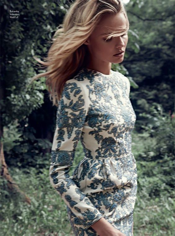 Magdalena Frackowiak by Magdalena Luniewska for Elle Poland- beautiful dress