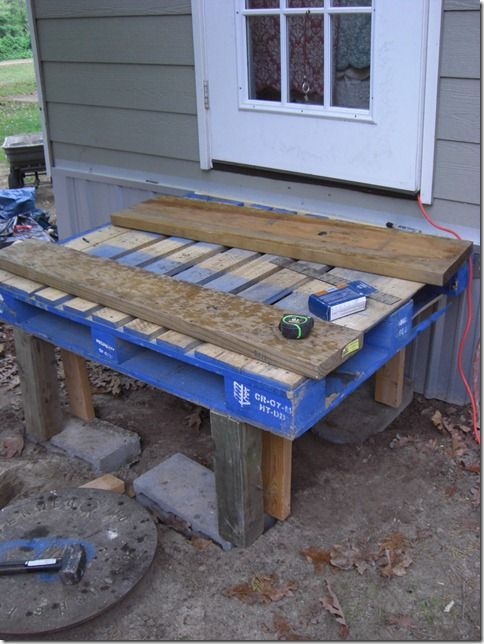 How To Make A Deck Out Of A Pallet DIY Pinterest