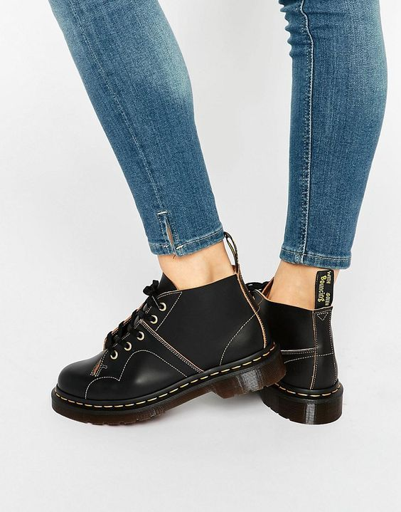 Image 1 ofDr Martens Church Monkey Ankle Boots