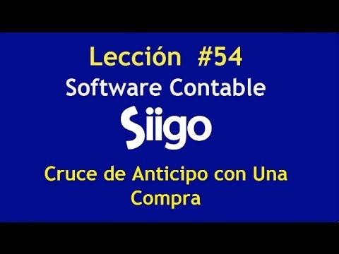 598. Lección # 54 Cruce de Anticipo con Una Compra. https://www.youtube.com/watch?v=isNmQ77vL3s