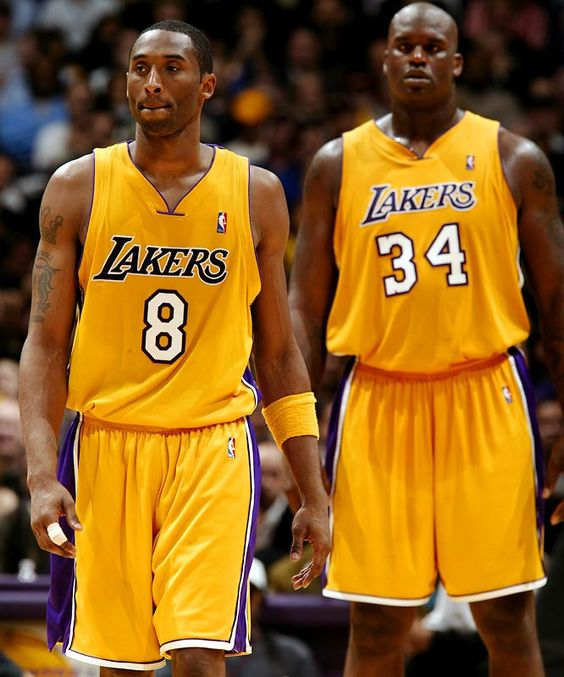 shaq & kobe (this is when I was a Lakers fan when it was about the team n not just kobe!!