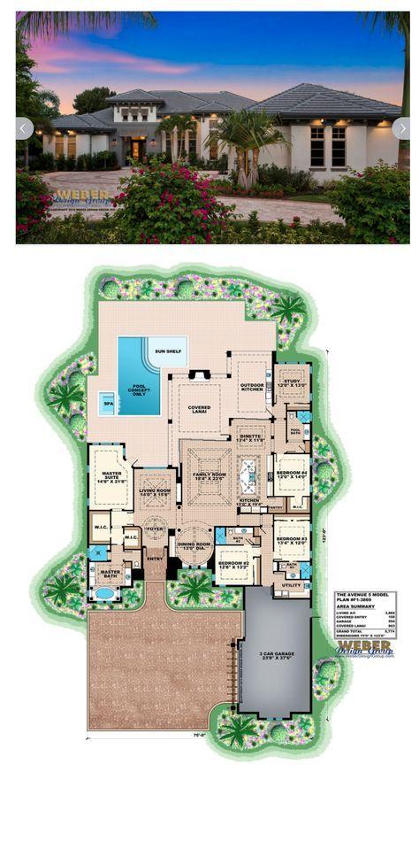 Beach House Plan 1 Story Coastal Contemporary Home Floor Plan Luxury House Plans Beach House Plan Pool House Plans