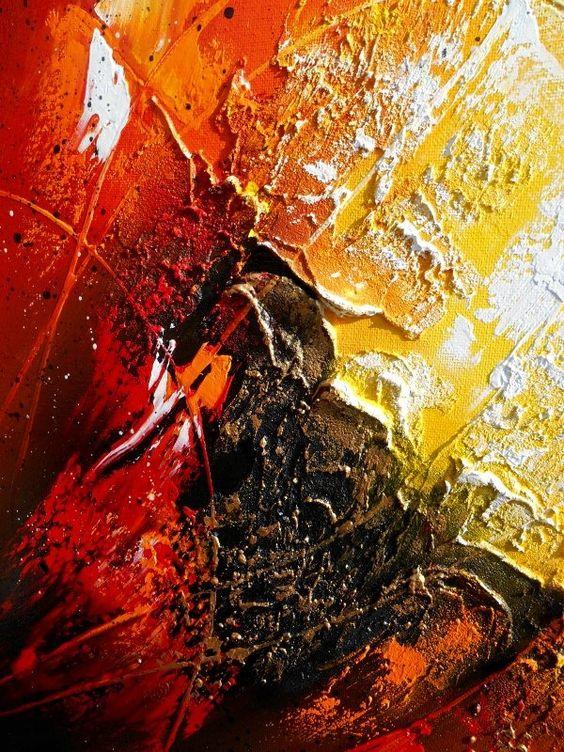 peinture moderne lhuile orionis tableau abstrait contemporain toile en relief noir - Tableaux Abstraits Colors