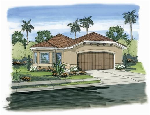 Spanish style house plans one story home design and style for Single story spanish style homes