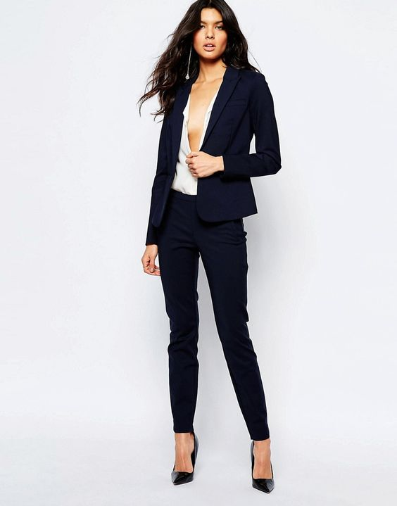 Image 1 of Y.A.S Peyton Ecco Trousers in Navy