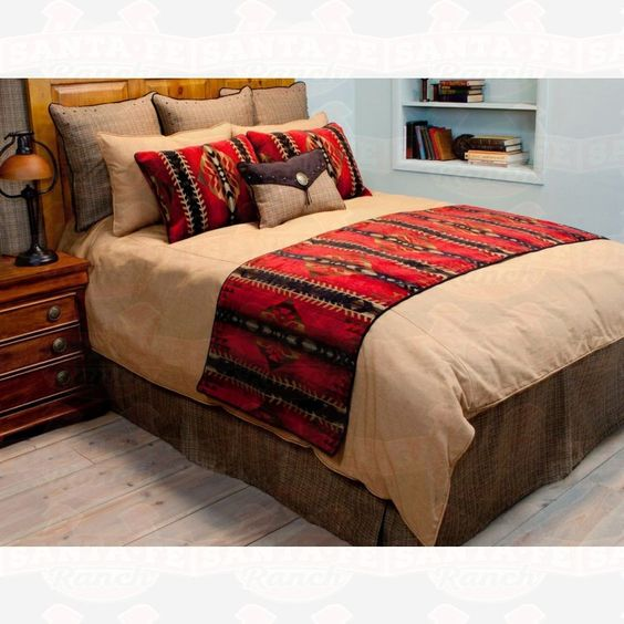 Arcadia #Rustic Bedding Collection  #bedding #westernbedding    http://www.santaferanch.com/