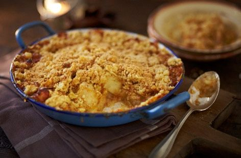 A simple Toffee apple crumble recipe for you to cook a great meal for family or friends. Buy the ingredients for our Toffee apple crumble recipe from Tesco today.