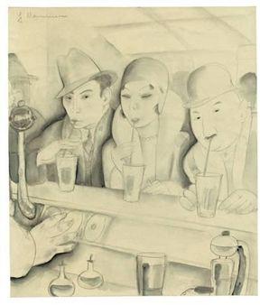SAFTBAR By Jeanne Mammen ,1930