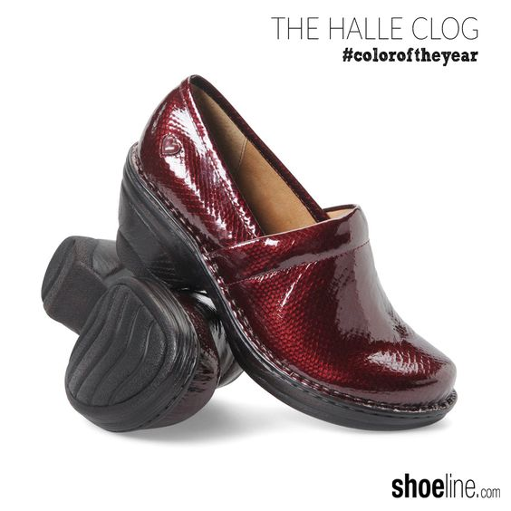 glossy patent clog in #marsala #coloroftheyear #pantone #shoes #PromotionCodesFor