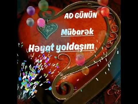 Həyat Yoldasim Omur Gun Yoldasim Dogum Gunun Mubarək Olsun Youtube Christmas Ornaments Novelty Christmas Holiday Decor