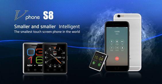"""VPhone S8 MTK2502 1.54"""" Screen Mobile Phone ROM 128MB RAM 64MB - Black"""