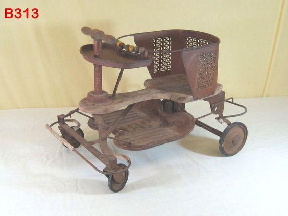 vintage antique primitive baby buggy carriage stroller. Black Bedroom Furniture Sets. Home Design Ideas