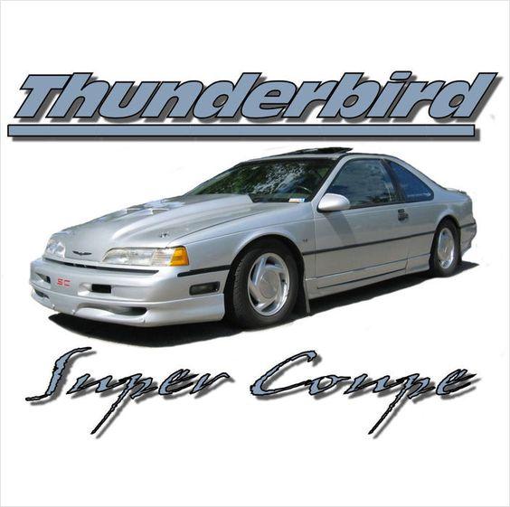 THUNDERBIRD SUPER COUPE T-SHIRT SUPERCHARGED T-BIRD SPORTS