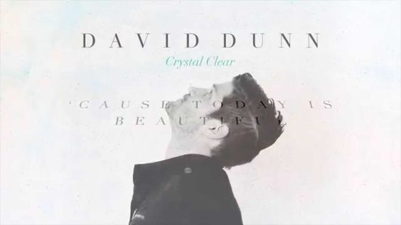 David Dunn - Today Is Beautiful (w/ Lyrics)....... When you have problems or you think its the end of the world, look at the bigger picture..... Today is BEAUTIFUL!!