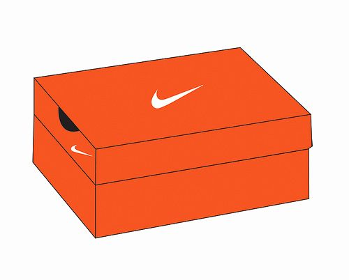 Nike Shoe Box Label Template Awesome Shoe Box Drawing At Getdrawings In 2020 Label Templates Shoe Box Printing Labels