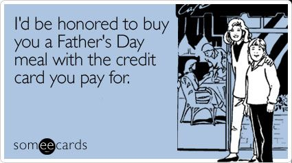 I'd be honored to buy you a Father's Day meal with the #creditcard you pay for - Mozo.com.au