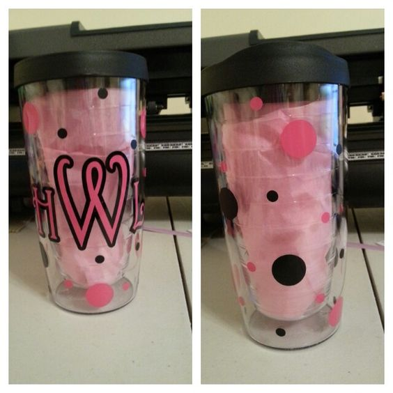 Pacific tumbler (like Tervis brand) with monogram