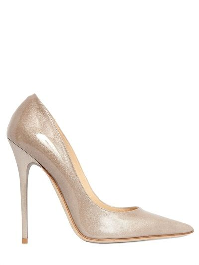 JIMMY CHOO - 120MM ANOUK GLITTERED LEATHER PUMPS - LUISAVIAROMA - LUXURY SHOPPING WORLDWIDE SHIPPING - FLORENCE