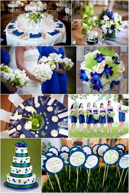 Spring Green And Navy Blue Wedding Color Theme I Think This Might Be The One