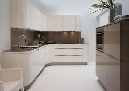 Nolte curved kitchens are a recent addition to this German designer kitchen range