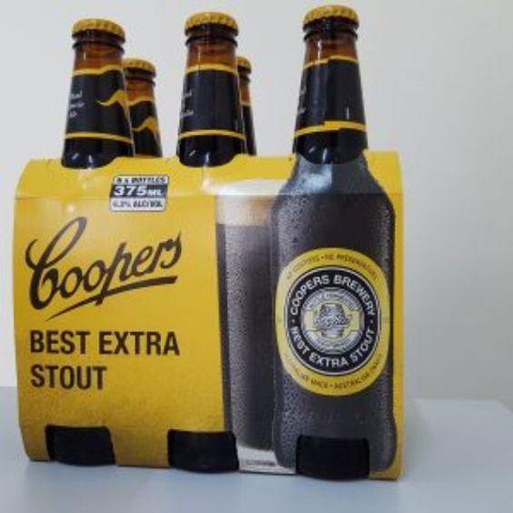 Bia Coopers Best Extra Stout 6,5% - Chai 375ml - Bia Nhập Khẩu
