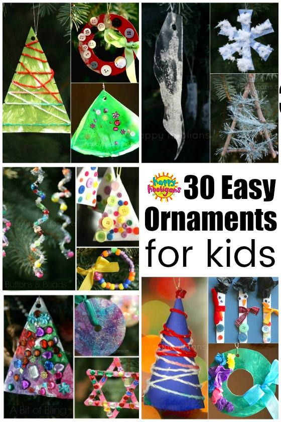30 Easy Kids Christmas Ornaments To Make At Home Kids Christmas Ornaments Christmas Ornaments To Make Easy Kids Christmas