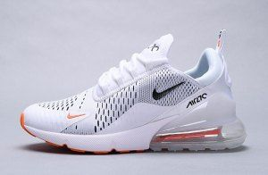 Nike Air Max 270 WhiteBlack Total Orange AH8050 106