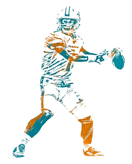 Tua Tagovailoa Miami Dolphins Watercolor Strokes Pixel Art 5 By Joe Hamilton In 2020 Pixel Art Joe Hamilton Miami Dolphins