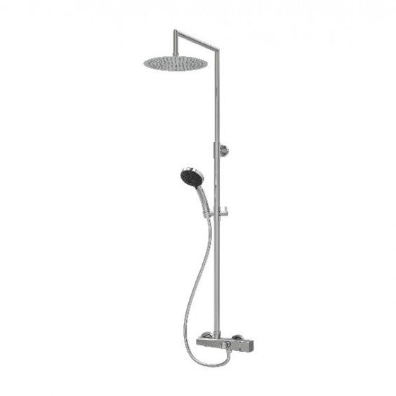 Columna de ducha mezcladora con rociador y for Mezcladora de ducha