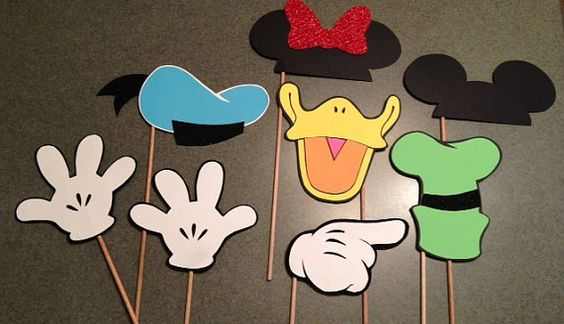 Disney photo booth props Great for all events!! Birthdays, weddings, special occasions  Mickey, Minnie, Goofy, Donald
