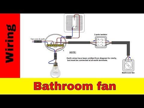 how to wire bathroom fan uk - youtube | bathroom fan, bathroom lighting, fan  light  pinterest