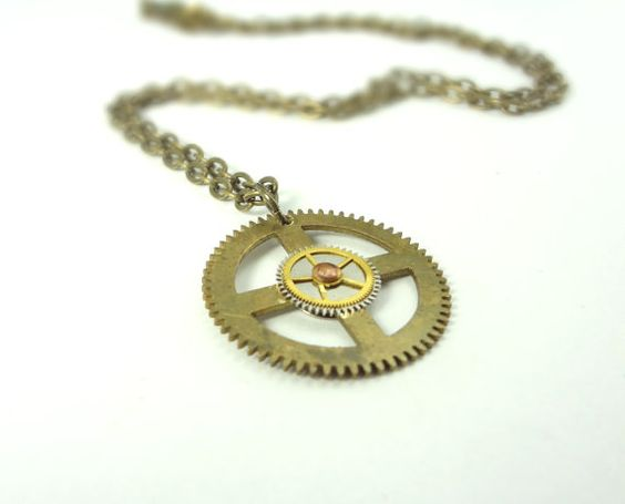 Limited Edition #Steampunk Gear Necklace Victorian Era Gears From by @TangledMetal, $25.00