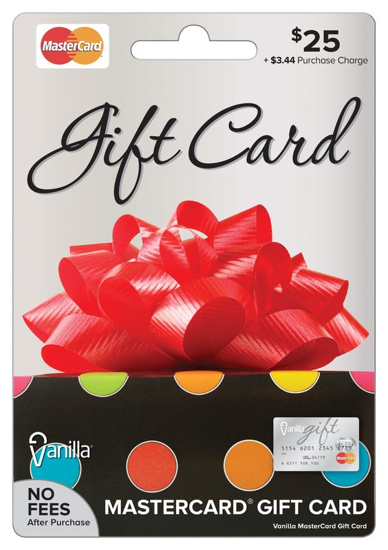 $25 Vanilla Gift MasterCard, the perfect card for the perfect gift ...