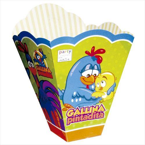 Una cajita de La Gallina Pintadita.Paquete por 10 unidades.