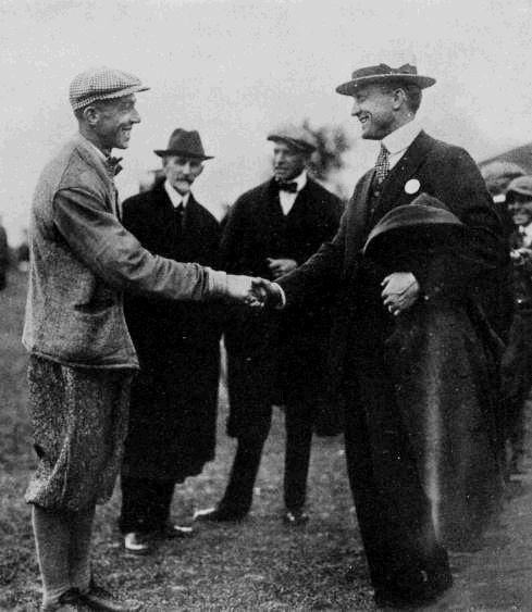 Francis Ouimet and Ty Cobb at the 1915 U.S. Amateur held at The Country Club of Detroit