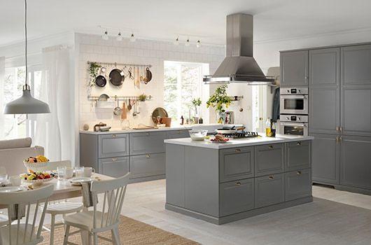 Modna I Funkcjonalna Kuchnia Ikea Bodbyn Kitchen Light Grey Kitchens Ikea Kitchen