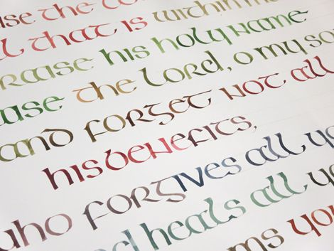 Irish Half Uncial Psalm 103 The Great Design Collection