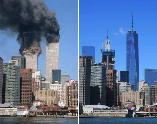 """Yahoo News Photos: 9/11: Then and now – 15 years later  Each August and September, as summer fades into fall, Yahoo News photographer Gordon Donovan finds himself in a familiar spot — snapping images in the area where the 9/11 terrorist attacks took place 15 years ago.  """"I do it because I love the city, the history of the city and how we're not going to be put down,"""" explained Donovan, who was born and raised on Staten Island and watched the twin towers being built from across the harbor."""