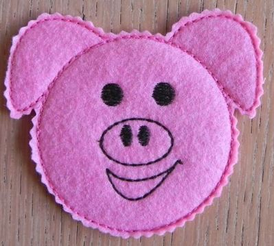 Mug rugs piglets embroidery designs embroidery mugs rugs pigs design
