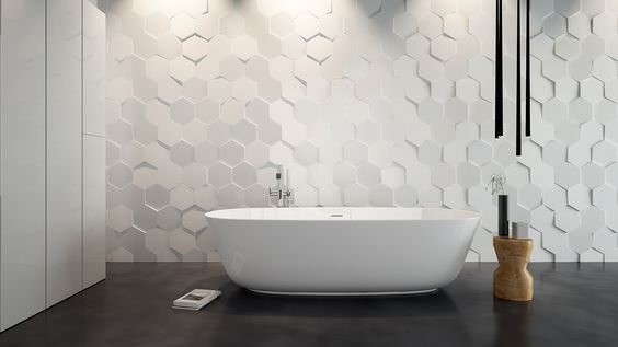 Hexa 3d ceramic surfaces tile wow unexpectedsurfaces for Mattout carrelage