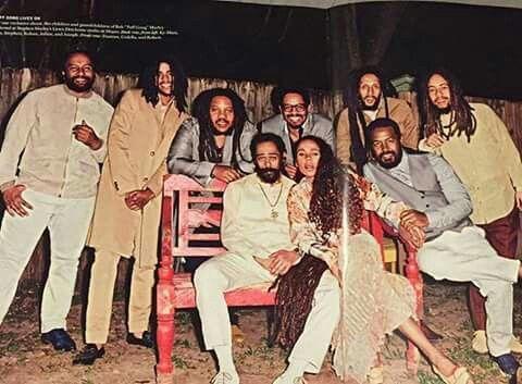few of Marley's finest...Kymani,Skip, Stephen, Rohan, Julian, Joseph ... Bob Marleys Daughters And Sons